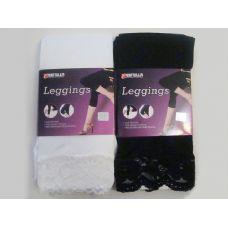 288 Units of LEGGING W/LACE BK & WH 70% LEN