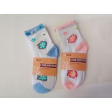 288 Units of SOCK GIRL 2PK/SET W/PRINT 2ASS - Girls Ankle Sock