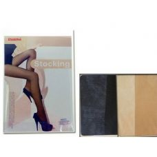 288 Units of STOCKINGS 90% LENGTH20DBLACK BEIGE - Womens Pantyhose