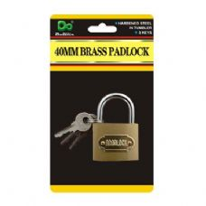 120 Units of 40MM Brass Padlock - Padlocks and Combination Locks