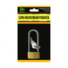 48 Units of Long Shank Brass Padlock - PADLOCKS/IRON/BRASS/COMBO