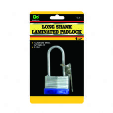 48 Units of Long Shank Laminated Padlock - PADLOCKS/IRON/BRASS/COMBO