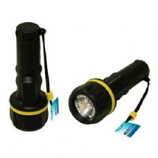 48 Units of Flashlight With Rib Grip - Flash Lights