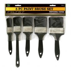 48 Units of 5 PC Paint Brush Set - Paint and Supplies