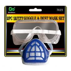 48 Units of 2PC Safety Goggle&Dust Mask Set - Hardware Miscellaneous