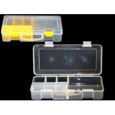 """48 Units of ORGANISER BOX W/PARTITION CLEAR 10X5.5X2.5"""" - Plastic Items"""
