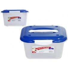 48 Units of HANDY BOX W/HANDLE BLUE - Food Storage Bags & Containers