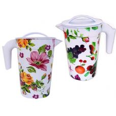 48 Units of PITCHER W/FRUIT DESIGN 11.5*11. - Plastic Drinkware