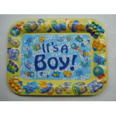 48 Units of TRAY RECT IT'S A BOY 41.5/31.5 - Plastic Serving Ware