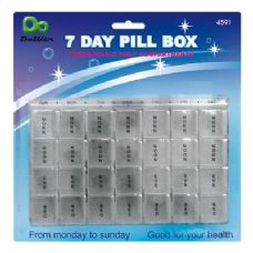 48 Units of 7 Day Pill Box - Pill Boxes and Accesories