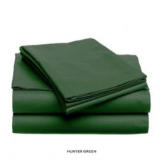 12 Units of 3 piece solid sheet set green queen size