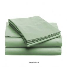 12 Units of 3 piece solid sheet set sage king size