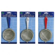 36 Units of Set of 2 Mesh Strainer - Strainers & Funnels