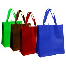 96 Units of BAG PP SHOPPING 33X38X13CM 4ASGREEN.BLUE,DARK GREEN DARK RED - Handbags