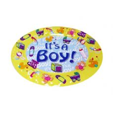 48 Units of TRAY OVAL BABY SHOWER BOY - Plastic Serving Ware