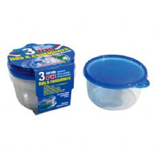 48 Units of 3 Pack Round Container with/Lid 25oz