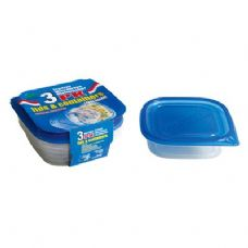 48 Units of 3 Pack Square Container with/Lid 25oz