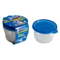48 Units of 3 Pack Deep Round Container with/Lid 28oz