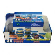 6 Units of 30 Piece Disposable Storage Set