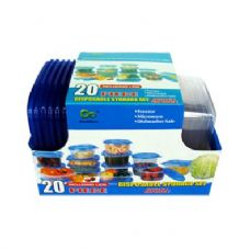 12 Units of 12 Pack 31OZ Plastic Deep Round Containers with lids