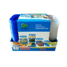 12 Units of 12 Pack 34OZ Plastic Deep Square Containers with lids