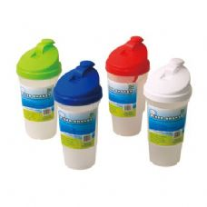 48 Units of Mixer/Shaker Frosted w/Lid 20oz - Plastic Drinkware