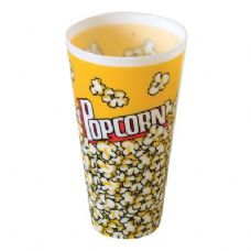 96 Units of Round Popcorn Container 34oz - Plastic Bowls and Plates