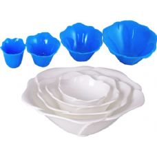 96 Units of 4 pc flower shape salad bowl