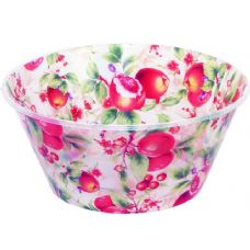 48 Units of bowl w/clear fruit design - Plastic Bowls and Plates