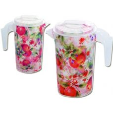 48 Units of water jar w/clear fruit design - Plastic Drinkware