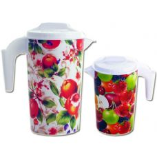 48 Units of water jar fruit design - Plastic Drinkware