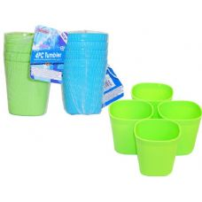 48 Units of 4 asst  color water cups - Plastic Drinkware