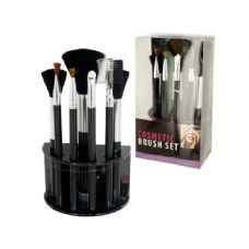 12 Units of Wholesale Cosmetic Brush Set With Stand