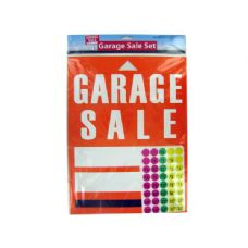72 Units of Wholesale garage sale sign and sticker set