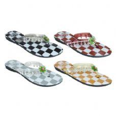 Wholesale Bulk Ladies Checkered Flip Flops