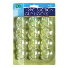 96 Units of 12PK Suction Cup Hooks - Hooks