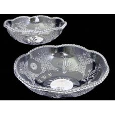 48 Units of round crystal bowl