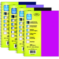 60 Units of Note Book - Plastic Poly Cover - One Subject-100 sheets - Notebooks