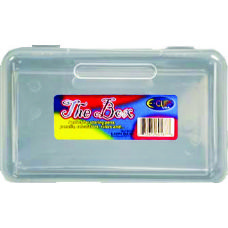 "96 Units of Pencil Box, ""The Box"", Clear - Pencil Boxes & Pouches"