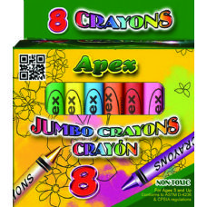 "72 Units of ""APEX"" 8 Jumbo Crayons in a Box - Chalk,Chalkboards,Crayons"