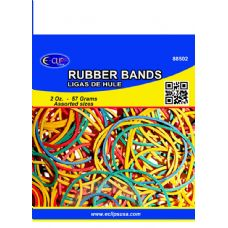 96 Units of Rubber Bands- Assorted Colors - Rubber Bands