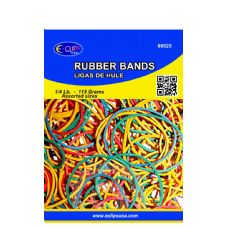 72 Units of Rubber Bands, 1/4lbs, Assorted Sizes & Assorted Colors (3 inners of 24) - Rubber Bands