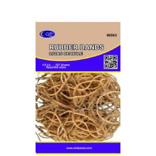 60 Units of Rubber Bands, 1/2lbs, Assorted Sizes, Natural Color (3 inners of 20)