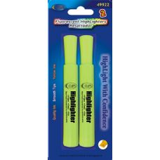 96 Units of 2 Pack Yellow High Lighter - Markers and Highlighters