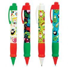 72 Units of Christmas Retractable Pen - Christmas Novelties