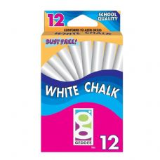 120 Units of GEDDES 12-Ct White Chalk Pack - Chalk,Chalkboards,Crayons