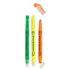 96 Units of 4 Ways 2 Highlight Highlighter & Stamper - Markers and Highlighters