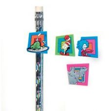 216 Units of Dr. Seuss Pencil Topper - Pencil Grippers / Toppers