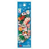 96 Units of 35-Ct Christmas Mini Eraser Pack - Christmas Novelties