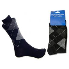 288 Units of Mens Classic Argyle Dress Socks, Sock Size 10-13 - Mens Dress Sock